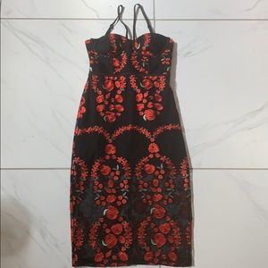 Nasty Gal Midi Rose Dress